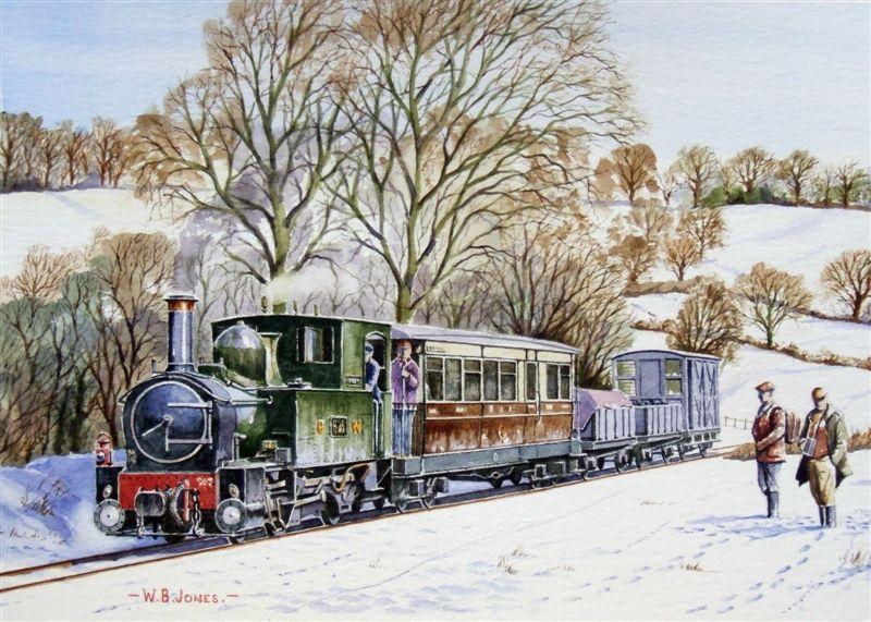 painting old beautiful train - photo #27